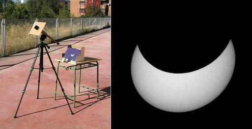 Observation d'éclipse solaire à Madrid