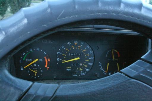 Odomètre de Saab 900 Turbo en 1989