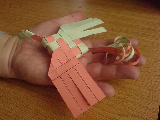 Oiseau de paradis en origami 6