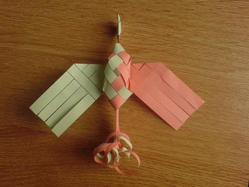 Oiseau de paradis en origami 7