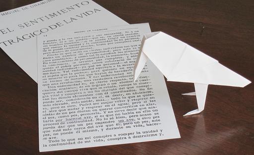 Oiseau savant en origami