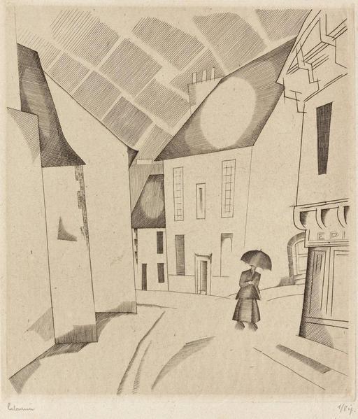 Orage dans la rue en 1922
