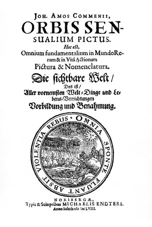 Couverture du dictionnaire latin de Coménius