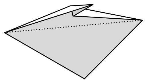 Oreille de lapin en origami