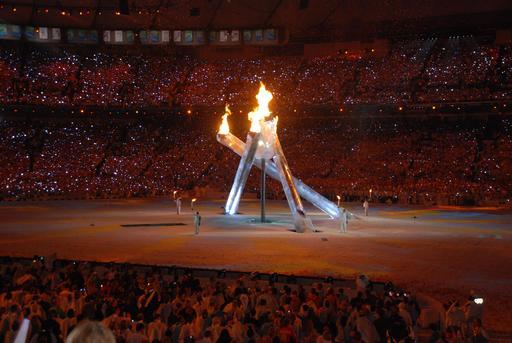 Ouverture des jeux olympiques d'hiver à Vancouver