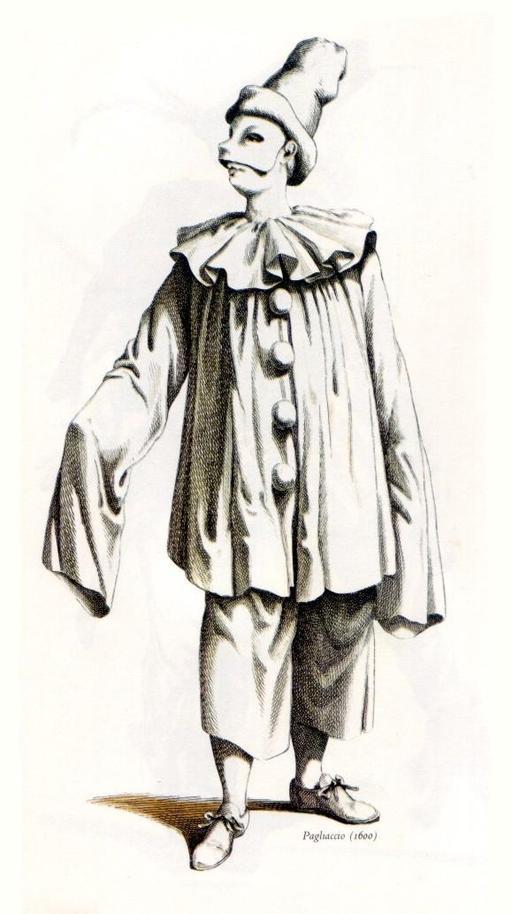 Pagliaccio, le clown Paillasse en 1600
