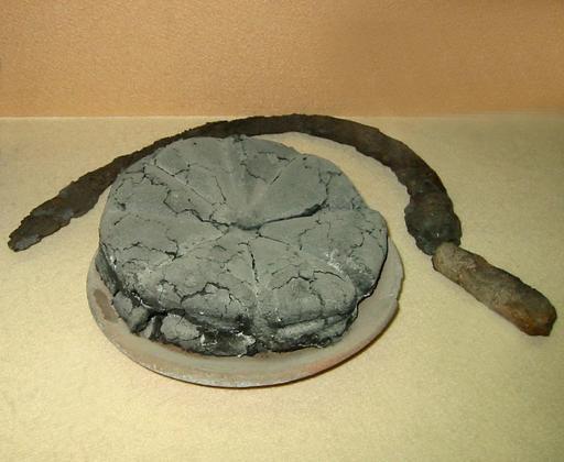 Pain romain sous les cendres de Pompéi