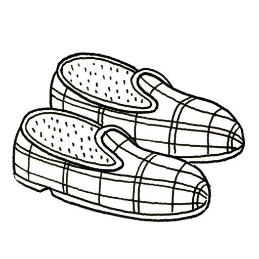 Paire de pantoufles