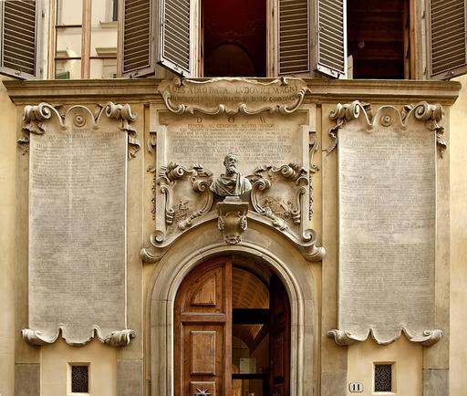 Palazzo dei Cartelloni à la gloire de Galilée à Florence