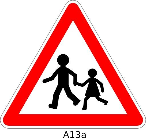Panneau routier A13a
