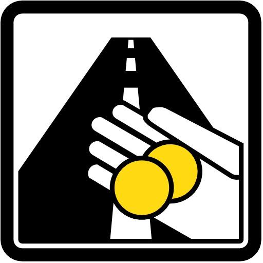 Panneau routier de péage