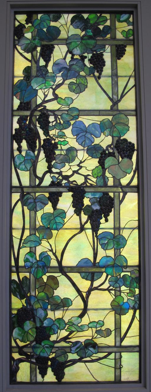 Panneau vitré à la vigne de Tiffany, 1905-15