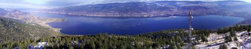 Panorama du lac Okanaga