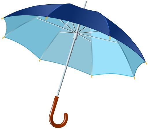 Parapluie bleu ouvert