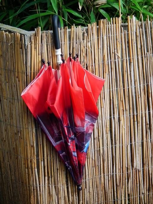 Parapluie multicolore fermé