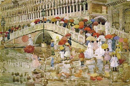 Parapluies sous la pluie