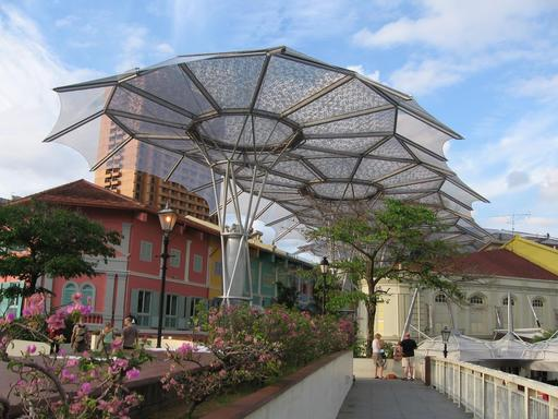 Parasols de Clarke Quay à Singapour