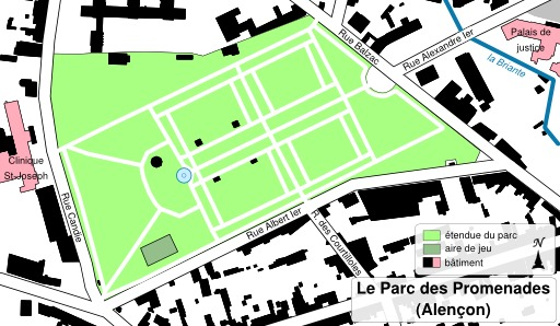 Parc des Promenades à Alençon
