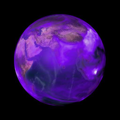 Particules de suie autour de la Terre