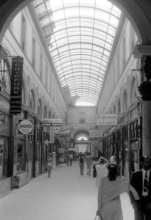 Passage couvert de la Galerie bordelaise en 1970