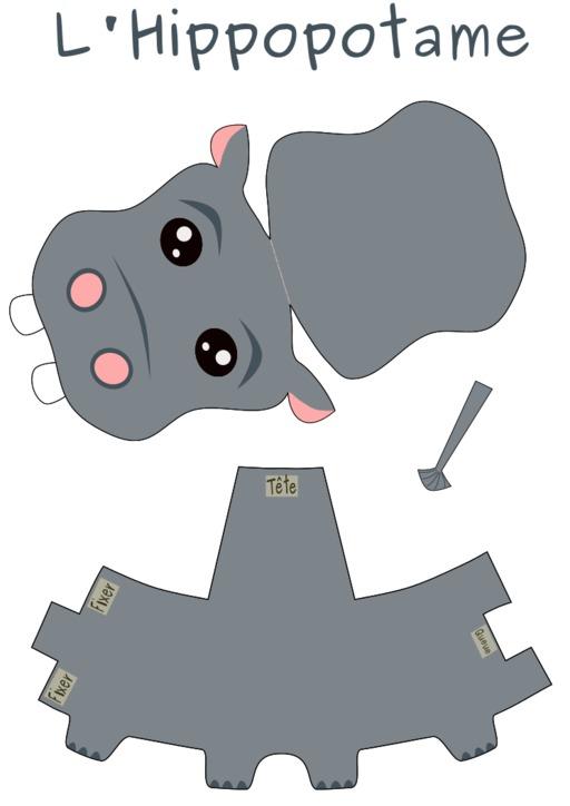 Patron d'hippopotame