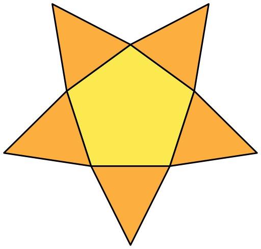 Patron de pyramide pentagonale