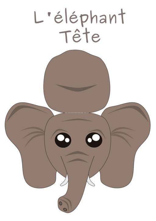 Patron de tête d'éléphant