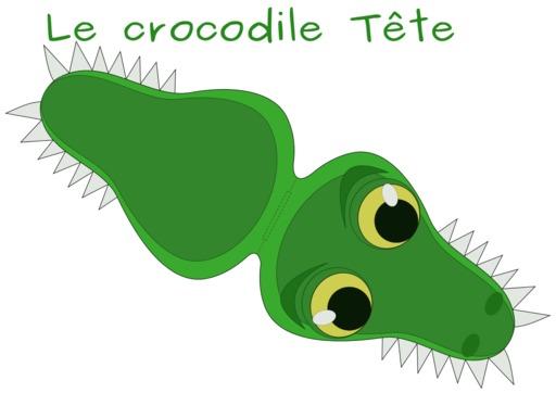 Patron de tête de crocodile