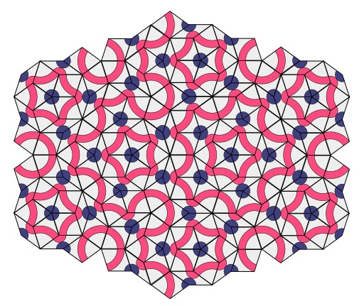 Pavage de Penrose avec tuiles apériodiques