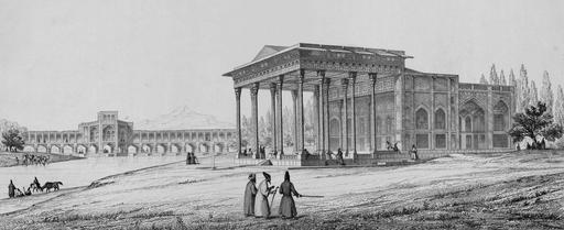 Pavillon des miroirs à Aynekhane en 1840