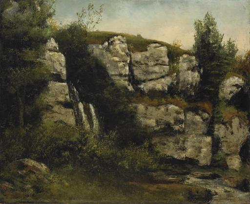 Paysage de falaise et cascade