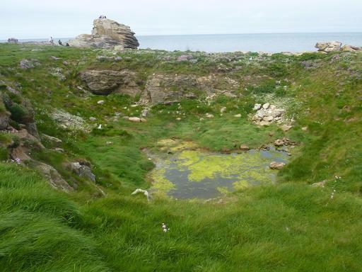 Paysage de l'Île Vierge dans le Finistère