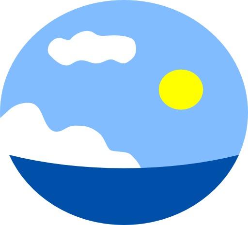 Paysage marin stylisé