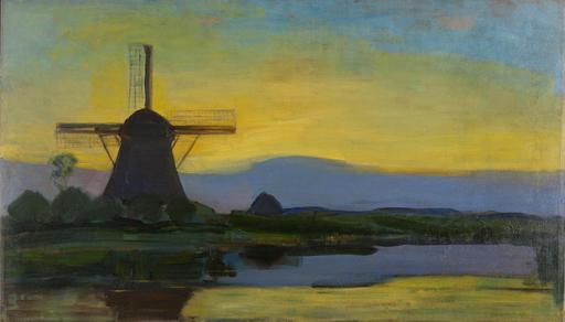 Paysage néerlandais au moulin