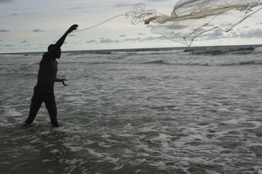 Pêche au filet en Casamance