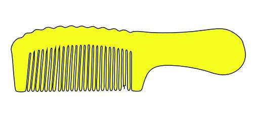 Peigne à cheveux jaune