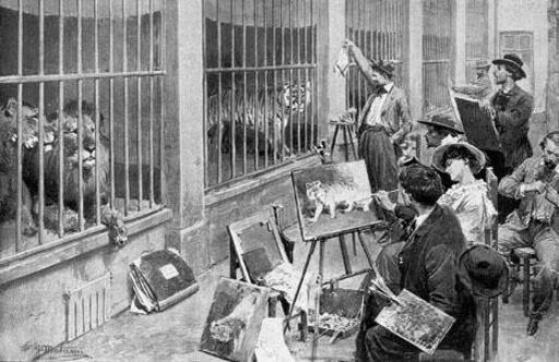 Peintres animaliers au Jardin des Plantes