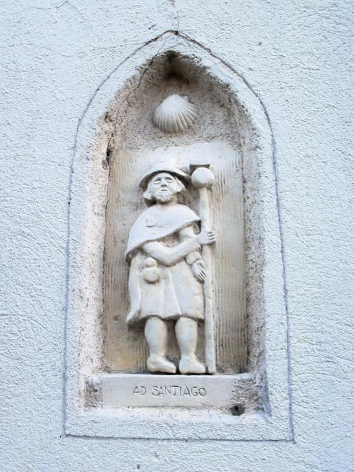 Pélerin de Compostelle à Isle-Saint-Georges