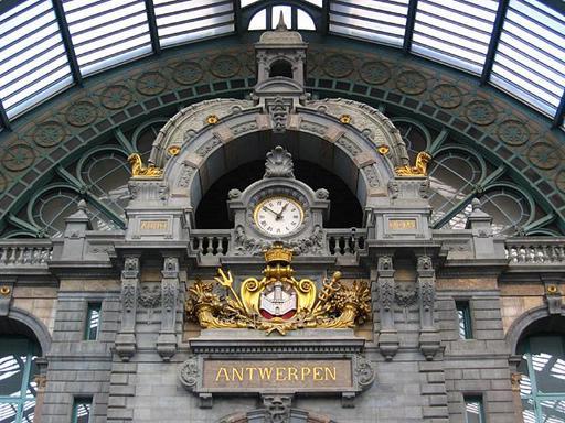 Pendule de la gare d'Anvers