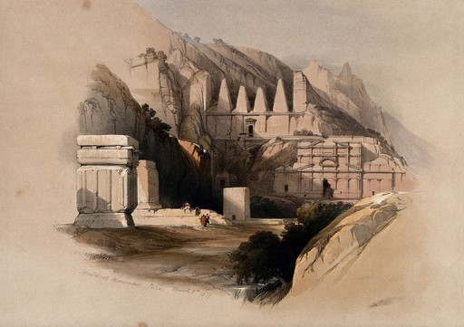 Petra en Jordanie en 1849