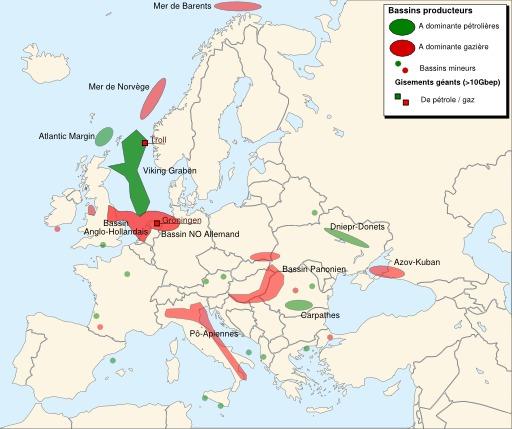 Pétrole et gaz en Europe