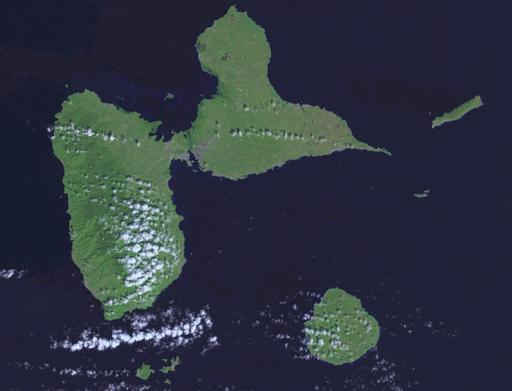 Photo satellite de la Guadeloupe