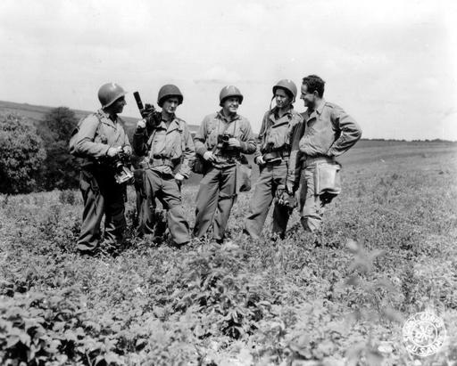 Photographes de guerre en 1944