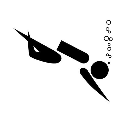 Pictogramme de la plongée