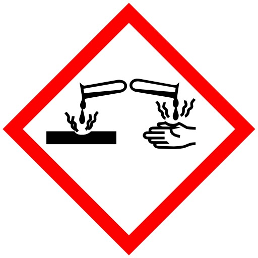 Pictogramme pour produits corrosifs