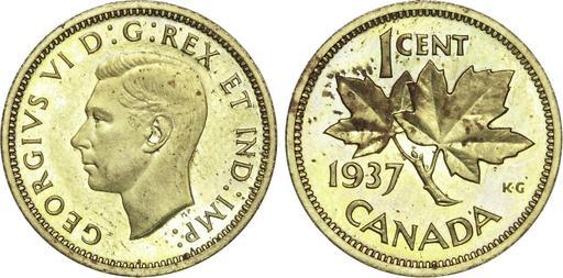Pièce canadienne avec rameau d'érable