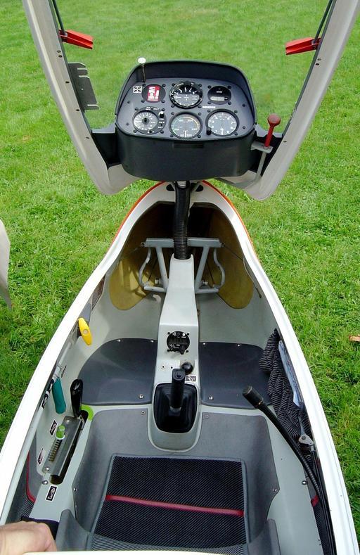Cabine de pilotage de planeur