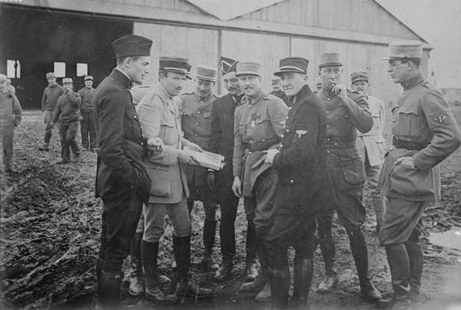 Pilotes de l'escadrille Lafayette en 1916