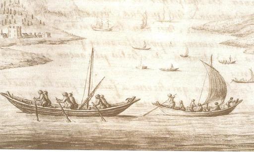 Pinasses d'Arcachon en 1727