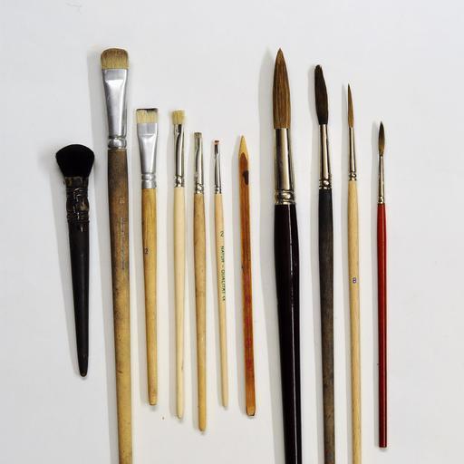 Pinceaux de tailles différentes